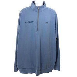 Travis Mathew Pullover Shirt 1/2 Zip Blue 2XL